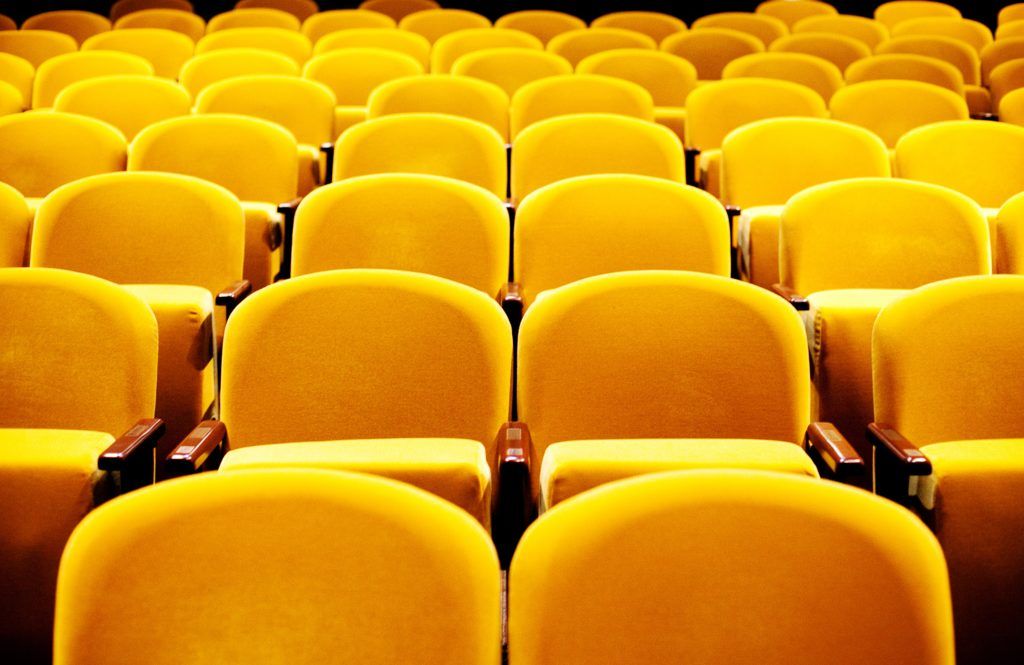 close up of stage west's yellow chairs